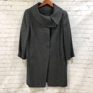 Anne Klein Tweed Coat Button Front Size Medium